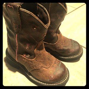 Justin Kids Light Up Cowboy Boots